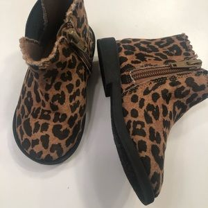 Toddler leopard booties -garanimals